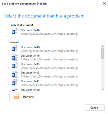 Select the document