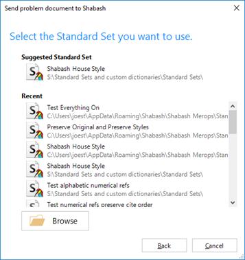 Choose the Standard Set