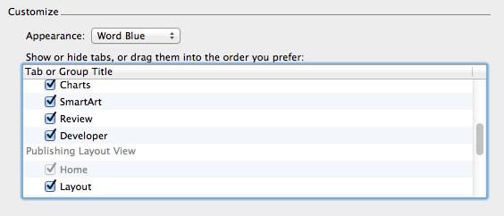 Enable developer tab