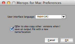 Merops for Mac Preferences