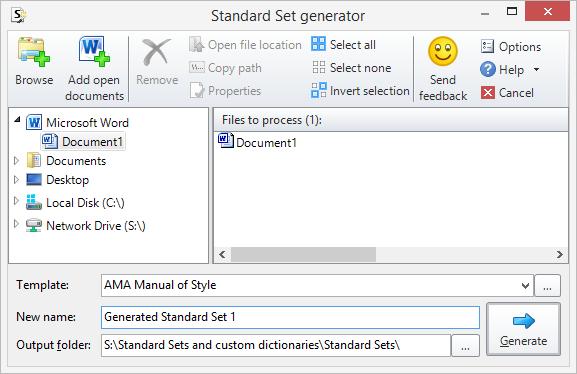 Standard Set Generator